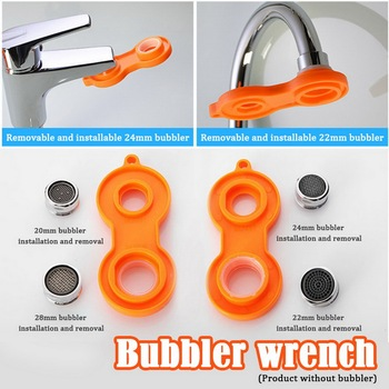 1PC Plastic Faucet Aerator Repair Kit Replacement Tool Spanner For Faucet Aerator Spanner Wrench Sanitary Ware Tools 2020 1pc multifunction faucet sink installer wrench extra long wrench anti slip handle spanner installer tools