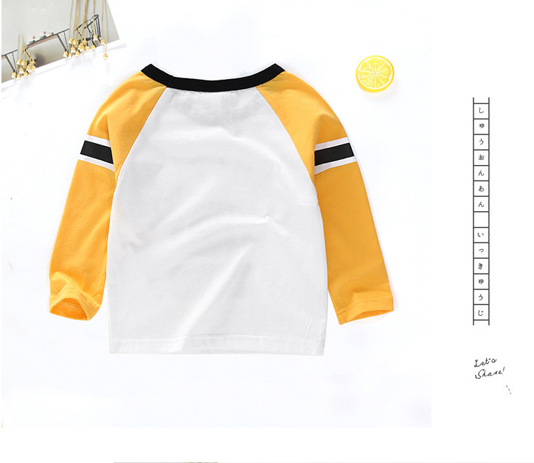 New Spring Boys Girls Cartoon Cotton T Shirts Children Tees Boy Girl Long Sleeve T Shirts Kids Tops Brand Baby Clothes 12M-8Y 21