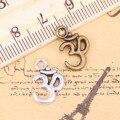 32pcs Charms Yoga OM 15x10mm Antique Pendants,Vintage Tibetan Silver Jewelry,DIY for bracelet necklace