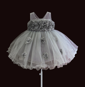 Image 2 - baby girls dresses lace flower kids clothing princess wedding baptism children wear 1 year birthday vestido infantil 6M 4Y