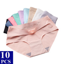 10 Pcs/lot Seamless Panties For Women Sexy Lingerie Briefs Breathable Women's Underwear Panties Plus Size Underpants Tanga Mujer
