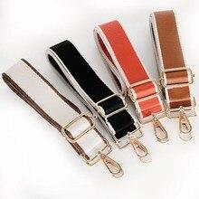 Alça de saco para bolsas de ombro feminino crossbody messenger bags cinta acessórios de cor sólida ampla correia ajustável