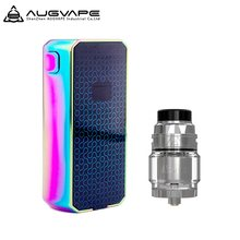 150W Augvape Druga Foxy Box Mod with AUGVAPE INTAKE RTA No 18650 Battery VV Mod OLED Display e cig Vape Mod vs Vaporesso Luxe(China)
