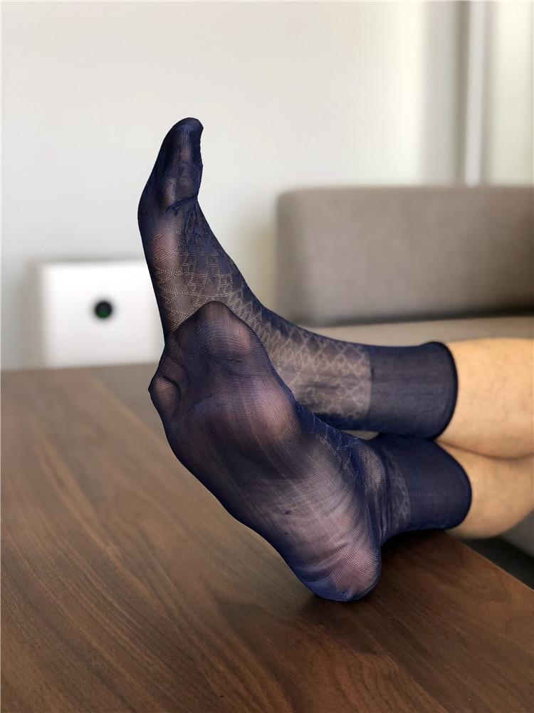 Tube Socks Male Dress Socks Gifts For Men Sheer Socks Exotic Formal Wear Suit Men Sexy Gay Transparent Dress Business TNT Socks