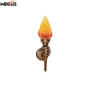 Image 5 - (WECUS) רטרו תעשייתי קיר מנורת creative אישיות קפה אולם מעבר מסדרון בר קישוט לפיד מנורת קיר