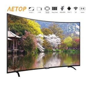 Бесплатная доставка-55 дюймов горячая Распродажа wifi smart tv Ультра hd плоский экран android tv изогнутый телевизор 4k с bluetooth