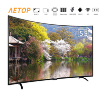 free shipping 55 inch hot sale wifi smart tv ultra hd flat screen android television curved tv 4k with bluetooth
