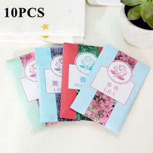 10 pçs saco de papel de frescura de ar fragrância scented bolso incenso armário saquinho para caixas de sapato sacos de couro bens