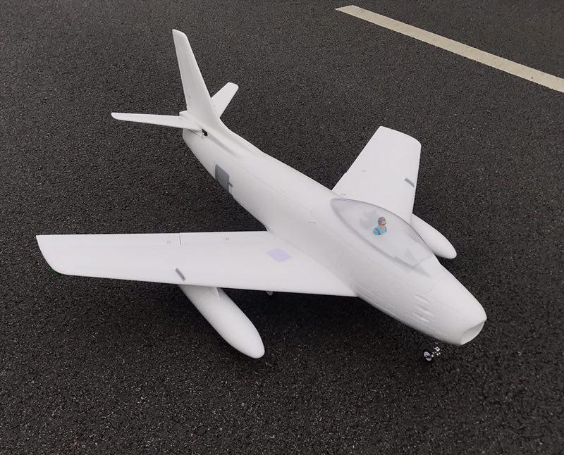 HSD Hobby EPO F86 F-86 90mm RC EDF jet airplane model white color DIY