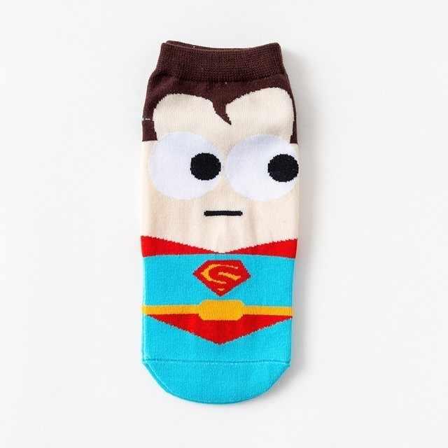 2019 super herói 1 par dos desenhos animados crianças adolescentes meias curtas meninos américa capitão adulto barco meia spiderman dos desenhos animados