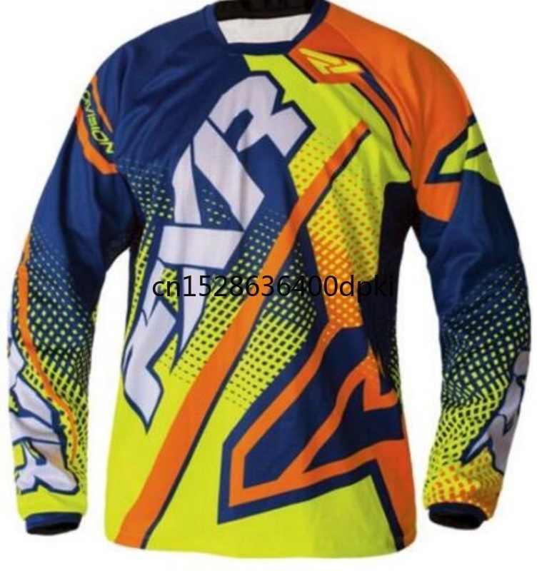 Baru Bersepeda Pakaian DH Jersey Gunung Sepeda Maillot BMX MX Sepeda Pakaian Moto Motorcross Kemeja Sepeda Motor Tshirt
