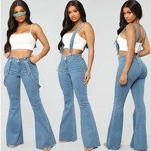 Las mujeres Slim Rompers 2019 nueva primavera monos de vaquero Cool Denim Pantalones lápiz roto agujeros dama Casual pantalones cortos