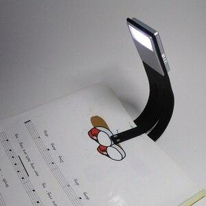 Image 3 - LED Libro di Lettura Della Luce Con Staccabile Flessibile Della Clip del USB di Ricarica Luce per Kindle e Book di Luminosità Regolabile Lampada Da Lettura