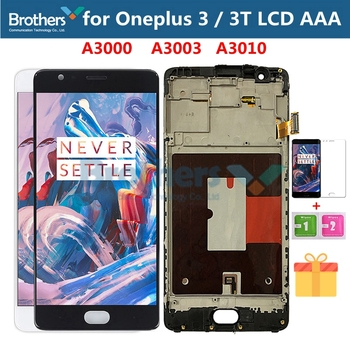 цена на LCD Screen for Oneplus 3 3T LCD Display for Oneplus 3 3T A3000 Touch Screen Assembly With Frame Touch Digitizer TFT Screen Test