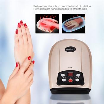 Heat Compress Palm Massager Electric Shiatsu Massage Machine Air Pressure Hand Massager for Arthritis Pain Relief Carpal Tunnel