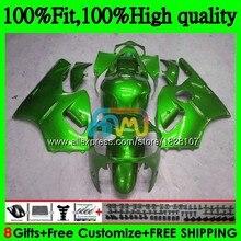 Зеленый Глянец впрыска топлива для ZX1200 C ZX 1200 12R 1200CC 00 01 20BS. 57 ZX 12 R ZX-12R ZX12R 00 01 2000 2001 OEM обтекатели
