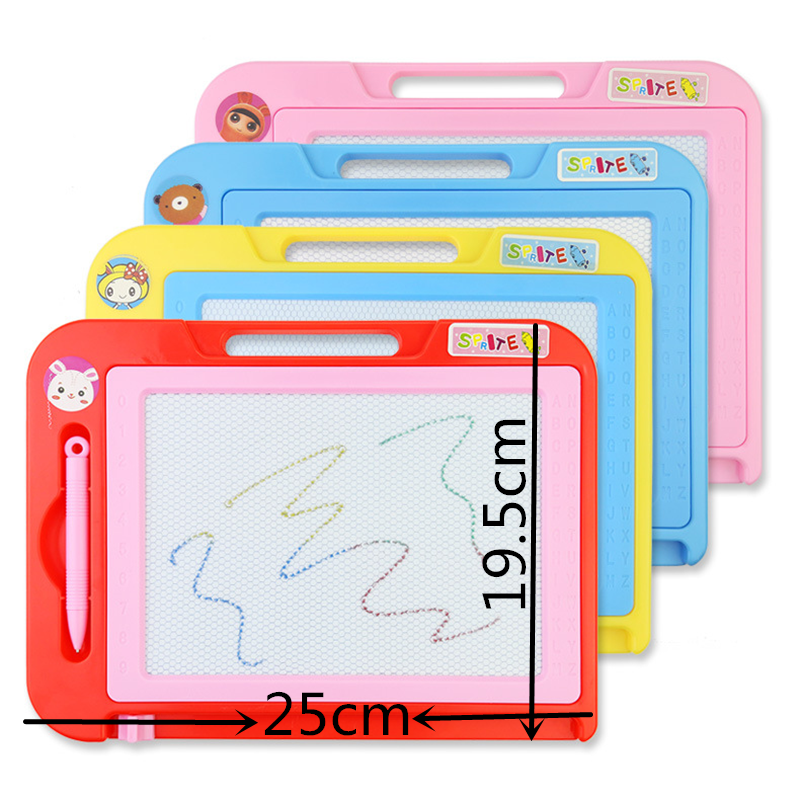 25*20cm Painting Toys Color Magnetic Sketchpad Children Graffiti Baby Writing Board Early Teach Hand Painting Early Education