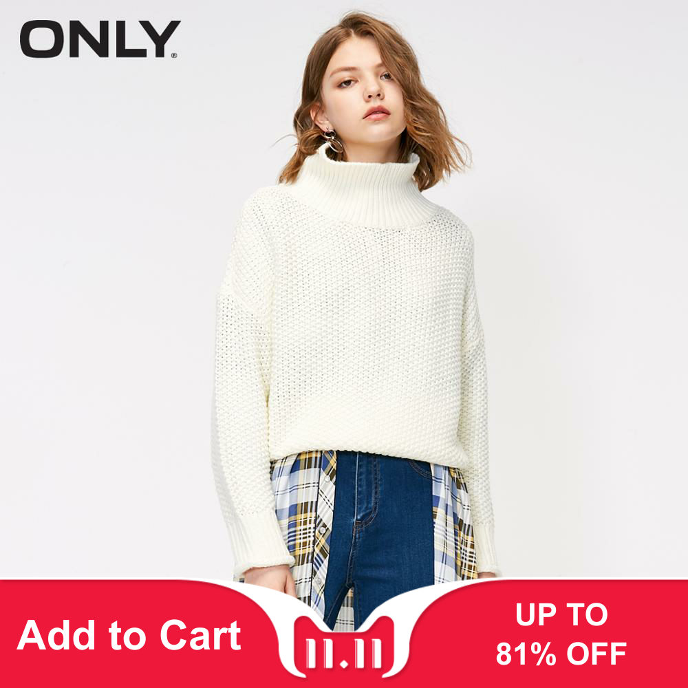 ONLY Autumn New Simpe Loose Solid Color Sweater     118313504