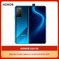 HONOR-teléfono inteligente X10 Original, SmartPhone 5G de 6,63 pulgadas, kirin 820, cámara frontal emergente, desbloqueo por huella dactilar, GPU Turbo