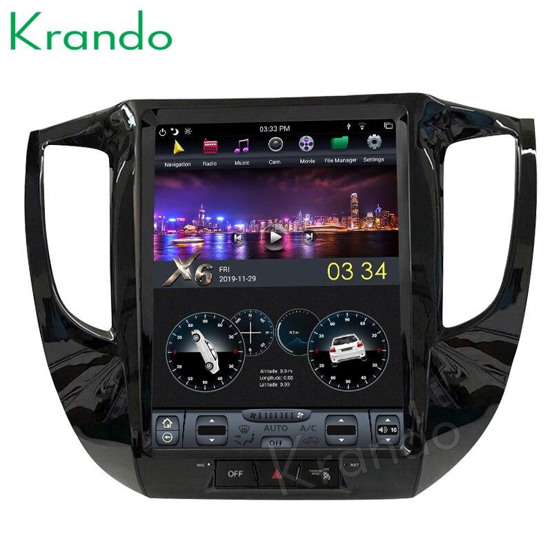 Krando-autoradio pour Mitsubishi Triton L200   Écran Vertical de style tesla, lecteur multimédia de navigation, Android 9.0, 12.1
