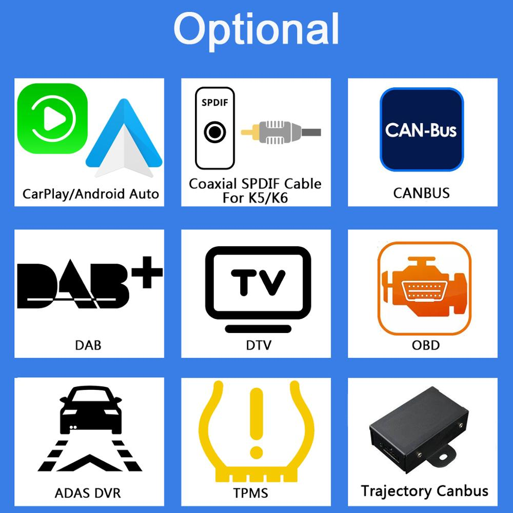 Extra Ownice K1 K2 K3 K5 K6 Optional Extra Cost For CarPlay DAB DTV OBD ADAS TPMS Android DVD only sell with car dvd together