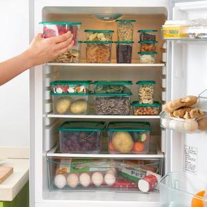 Image 4 - Ensemble de 17 pièces, four à micro ondes, réfrigérateur boîte de rangement des aliments, conteneur en plastique transparent