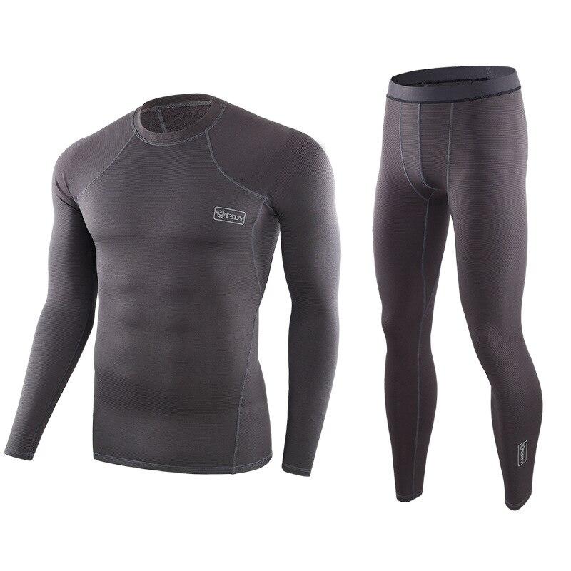 Осень-зима, новое тактическое термобелье, мужское нижнее белье, комплекты компрессионного флиса, быстрое высыхание, термо нижнее белье, топ