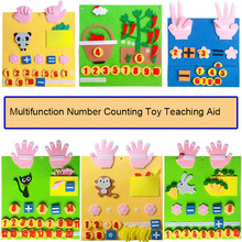 Kids Montessori Materials Educational Toys Numbers Counting Toy Animal Vegetable DIY Non-woven Math Toys Learning Toys Children