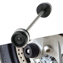 CNC Motorcycle Front Axle Fork Wheel Slider Crash Falling Protector For Kawasaki ZX-6R ZX-10R ZX-14R ZZR1400 ZZR 1400 Accesion for kawasaki zx 6r ninja 2014 2016 kle650 versys 2015 2016 motorcycle front axle fork wheel protector crash sliders cap pad