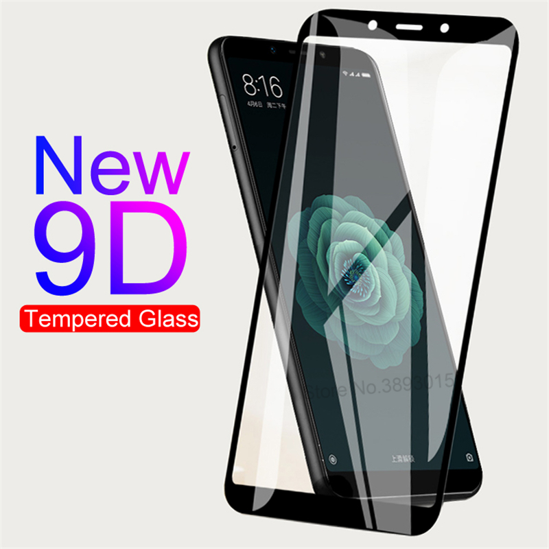 9H Anti-Burst Protective Glass For Xiaomi Mi 5 5C 5S Plus 5X 6 6X A1 A2 Lite Mi Play Note 3 Pocophone F1 Glass Screen Protector