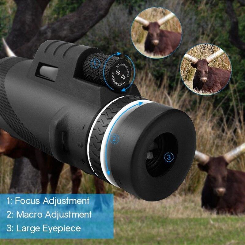 40x60 12X увеличение Фокус Регулируемый Открытый путешествия Карманный Educatioanl детский Монокуляр для студентов телескоп игрушки Монокуляр