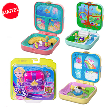 Original Mattel Polly Pocket Doll Hidden World Mini Scene Girls Home Toys for Children Mermaid Kids Toy Nesting Reborn Dolls