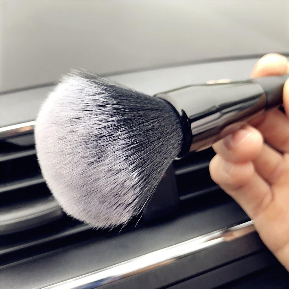 7.87 inç yumuşak araba temizleme havalandırma fırçası otomatik elektrostatik havalandırma toz kaldırmak araçları temizleyici iç