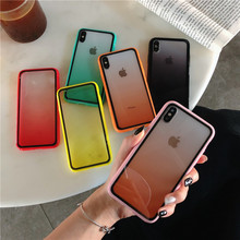 Luxury Transparent Gradient Phone Case For iPhone X XS Max XR 8 7 6 6s Plus Soft Candy Color Clear Back Cover Macaron Funda Capa