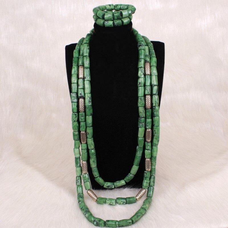 2 EDO Traditionnel Mariage Corail Perles Collier Set Bracelet Vendu comme un ensemble