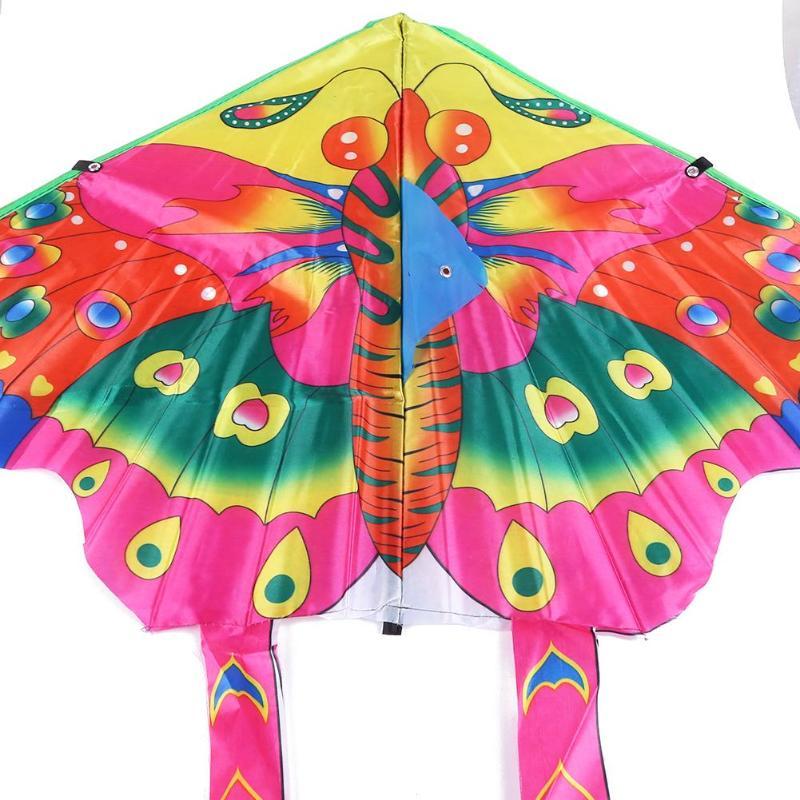 90x50 см красочные бабочки воздушный змей открытый складной яркий тканевый Сад Детские воздушные змеи наружные летающие игрушки детские игрушки игры воздушные змеи
