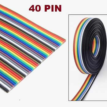 40P 1.27mm PITCH Color Flat Ribbon Cable Rainbow DuPont Wire 1M 2M 3M 5M 10M for FC Dupont Connector Line Pitch Connect Wires - discount item  10% OFF Electrical Equipment & Supplies