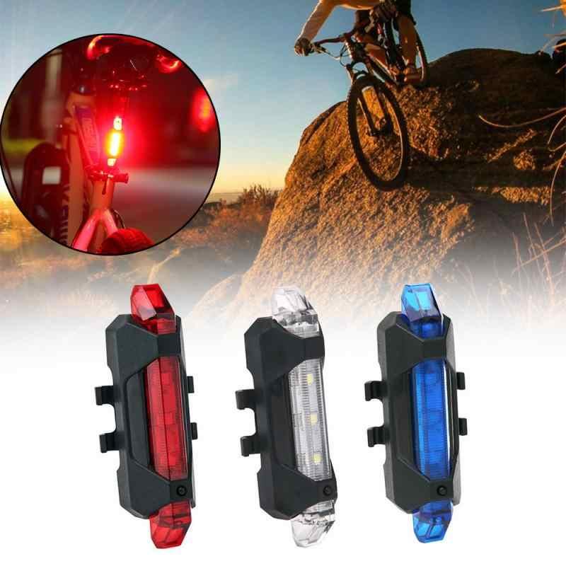 Rojo LIOOBO Luz de Advertencia de Seguridad LED para Bicicleta Trasera Luz de Bicicleta Trasera Luz de Advertencia de Seguridad Brillante Se Adapta para Bicicleta de Carretera Bicicleta de monta/ña