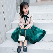 Комплекты одежды для девочек рубашка с длинным рукавом и юбка