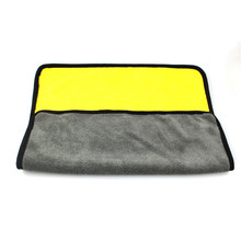 Моющее полотенце с пеной для полировки кораллового бархата, мягкая Абсорбирующая Ткань для мытья автомобиля, автоуход, чистящее полотенце из микрофибры s#0