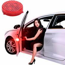 2 шт. автомобиль дверь открыта Предупреждение лампа вспышка-стробоскоп для анти-столкновения безопасности светодиодный светильник