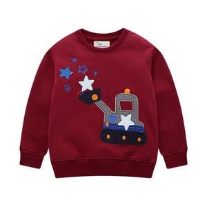 Image 2 - Erkek bebek giyim setleri sonbahar kış karikatür araba baskılı pamuk erkek kıyafet uzun kollu gömlek pantolon çocuk giyim takım elbise