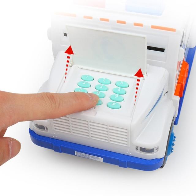 Car Piggy Bank Digital Kids Toy Money Box Saving Deposit Boxes Electronic Tirelire Enfant Cash Coin Safe Truck Toys For Children