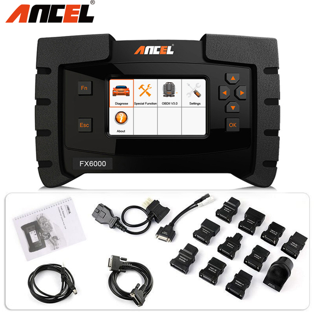 ANCEL FX6000 OBD2 Car Diagnostic Tool ABS DPF Oil Rest Key TPMS Battery Tester Air ACC All Systems OBD2 Scanner Update for Free