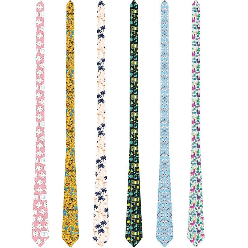 Funny Men Ties 2019 Creative Printed Necktie Men's Suit Wedding Party Gift Ties For Men 8cm Polyester Neckties Gravatas 6S-LD46