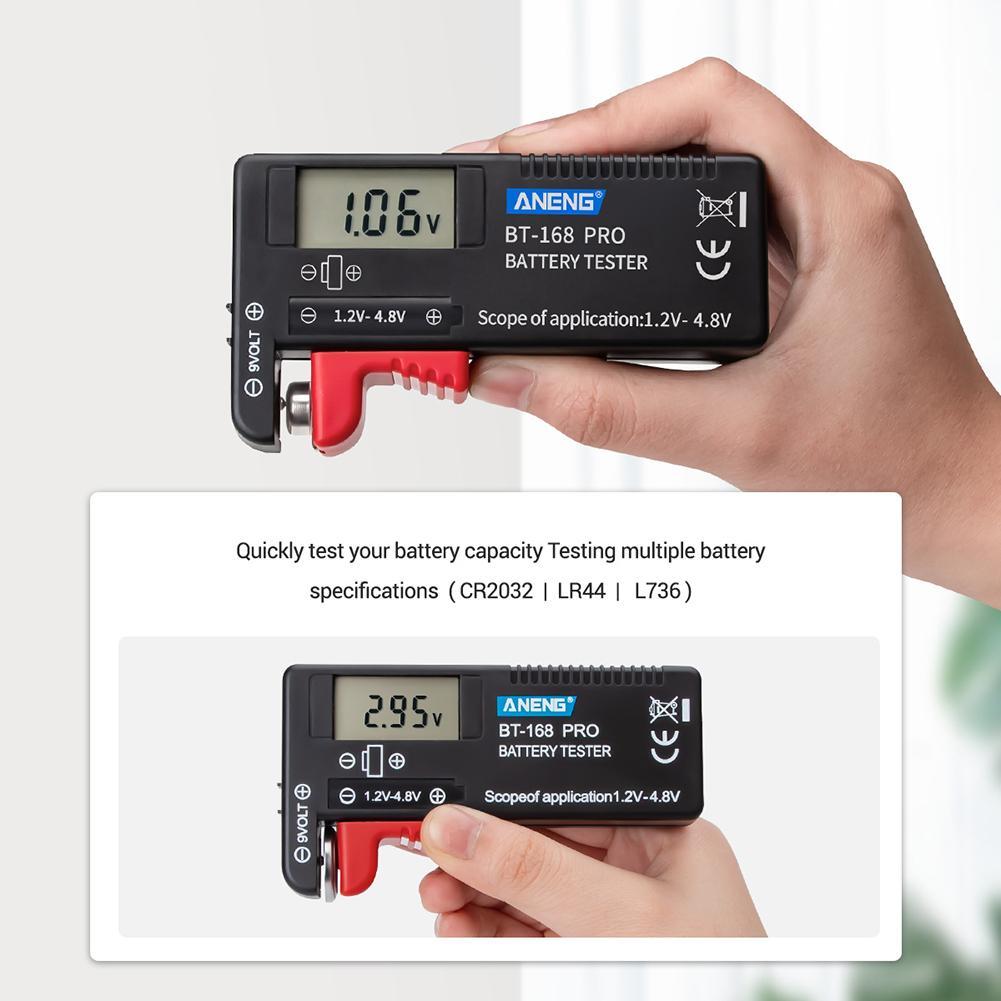 Digital Lithium Battery Tester ANENG 168 POR 1.2V-4.8V Battery Tester Universal Checker For AA AAA C D 9V Micro Batteries