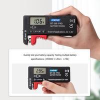 Verificador universal do verificador da bateria de lítio de digitas aneng 168 por 1.2 v verificador da bateria de 4.8 v para as micro baterias do c d 9 v aaa do aa|Máquinas de medição da visão|Ferramenta -