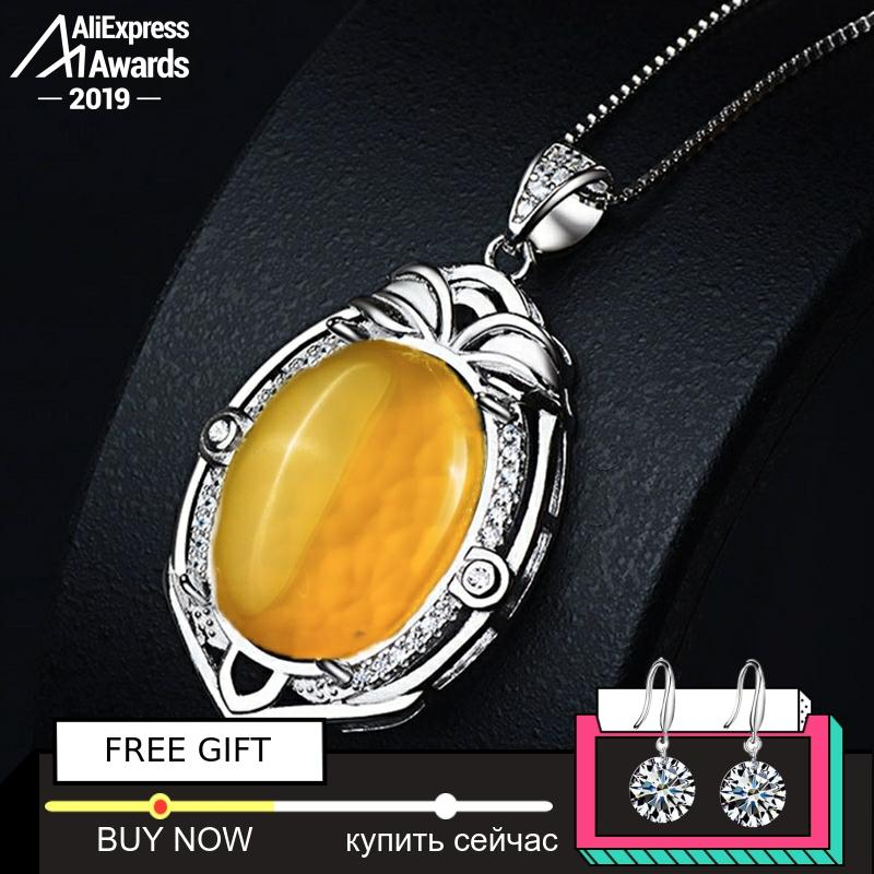 NOT FAKE S925 Sterling Silver Israel Amber Pedants Artisan Baltic Antique For Necklace Lithuania Chalcedony Yellow