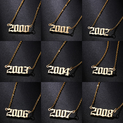 WEIMANJINGDIAN Brand New Arrival High Quality Year 2000 to 2020 Pendant Necklace
