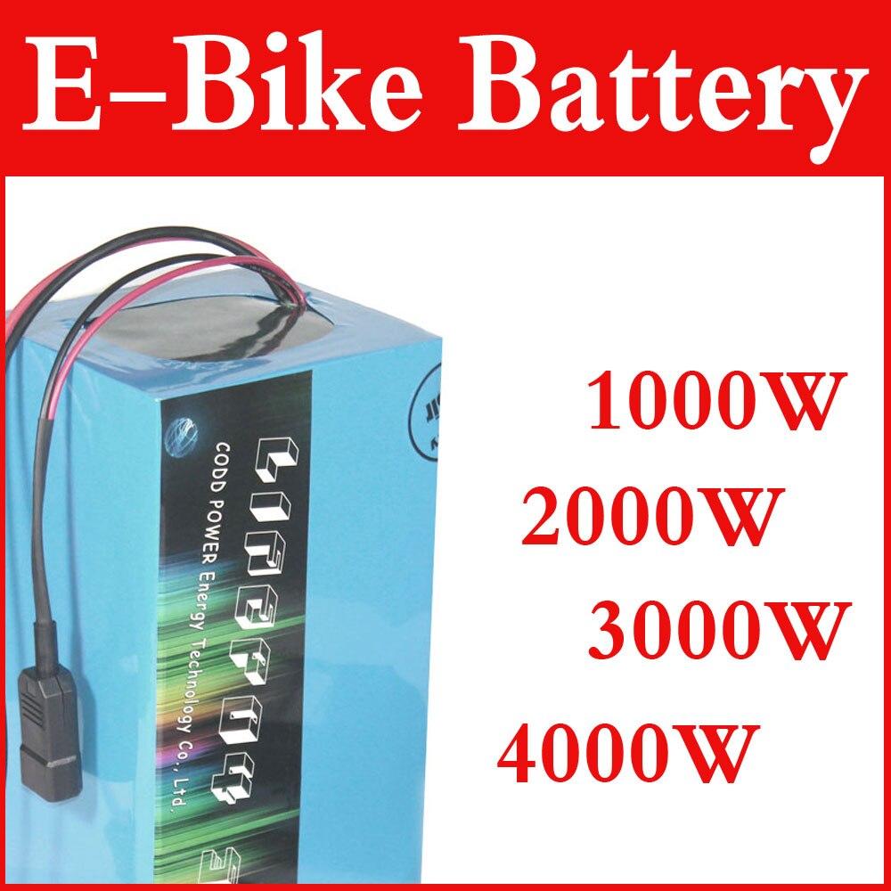 Batería de bicicleta eléctrica de 24V, 36V, 48v, 60V, 72V, 20Ah, 40Ah, batería de iones de litio DIY, 1000w, 2000w, sin aranceles aduaneros